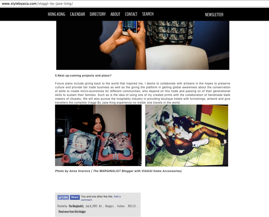 Interview on Style By Asia